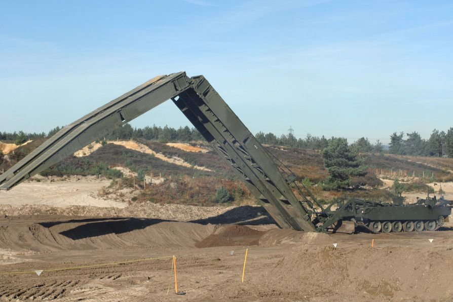 TITAN Armoured Vehicle Launcher bridge